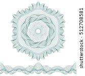 set  guilloche pattern rosette... | Shutterstock .eps vector #512708581