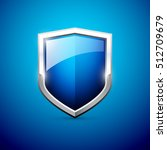 vector blue shield | Shutterstock .eps vector #512709679