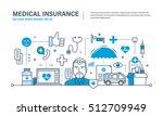 modern medicine and technology  ... | Shutterstock .eps vector #512709949