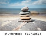 stack of stones on the seaside... | Shutterstock . vector #512710615