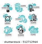 house and office cleaning... | Shutterstock .eps vector #512712964