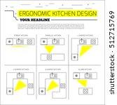 ergonomics kitchen design.... | Shutterstock .eps vector #512715769
