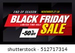 black friday sale banner | Shutterstock .eps vector #512717314