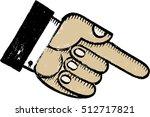 Vintage Pointed Finger...