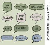 sale speech bubbles. . talk... | Shutterstock .eps vector #512717944