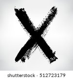hand drawn x mark.grunge letter ... | Shutterstock .eps vector #512723179