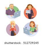 people with devices | Shutterstock .eps vector #512729245