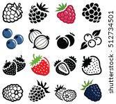 berry fruit icon collection  ... | Shutterstock .eps vector #512734501