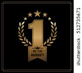 one year warranty background... | Shutterstock .eps vector #512735671