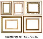 Set Of  10 Gold Picture Frames...