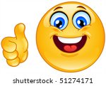 thumb up emoticon | Shutterstock .eps vector #51274171