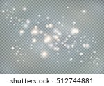 vector glowing stars  lights... | Shutterstock .eps vector #512744881