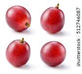 Ripe Red Grape Isolated White - Fine Art prints