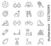sport line art isolated icons... | Shutterstock .eps vector #512750395