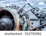 front view of gas turbine... | Shutterstock . vector #512752381