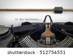 Vintage Typewriter With ' In...
