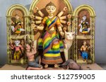 artistic hindu goddess durga...   Shutterstock . vector #512759005