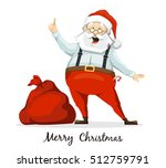 santa claus and his sack of... | Shutterstock .eps vector #512759791