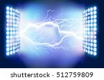 flash of lightning. vector... | Shutterstock .eps vector #512759809