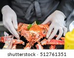 Small photo of steamed Alaska crab