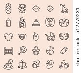 baby minimal line icon set | Shutterstock .eps vector #512770231