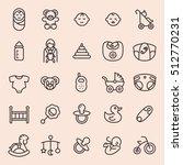 baby minimal line icon set | Shutterstock .eps vector #512770231