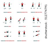 fitness  aerobic and workout... | Shutterstock .eps vector #512774791