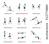 fitness  aerobic and workout... | Shutterstock .eps vector #512774884