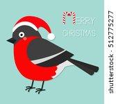 bullfinch winter red feather... | Shutterstock .eps vector #512775277