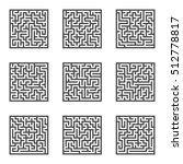 maze game. labyrinth. vector... | Shutterstock .eps vector #512778817