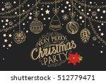 christmas restaurant brochure ... | Shutterstock .eps vector #512779471