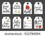 christmas and new year cute... | Shutterstock .eps vector #512784004