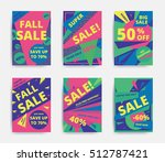 bright design sale set website... | Shutterstock .eps vector #512787421