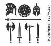 weapons and armor of the... | Shutterstock .eps vector #512791894