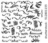 set of vector hand drawn... | Shutterstock .eps vector #512801155