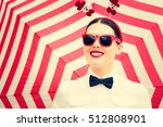 portrait of a smiling girl in... | Shutterstock . vector #512808901