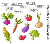 vector set collection with... | Shutterstock .eps vector #512808961