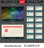 calendar 2017. vector templates ... | Shutterstock .eps vector #512809219