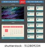 calendar 2017. vector templates ... | Shutterstock .eps vector #512809234