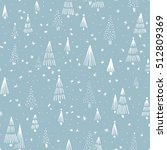 hand drawn winter seamless... | Shutterstock .eps vector #512809369