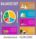 infographic chart of healthy... | Shutterstock .eps vector #512811085