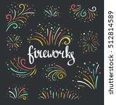 hand drawn vector colorful... | Shutterstock .eps vector #512814589