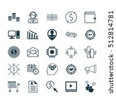 set of 25 universal editable... | Shutterstock .eps vector #512814781