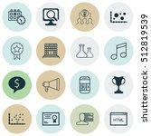 set of 16 universal editable... | Shutterstock .eps vector #512819539