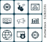 set of seo icons on security ... | Shutterstock .eps vector #512821531