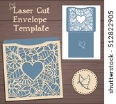 lasercut vector wedding... | Shutterstock .eps vector #512822905