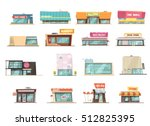 shop building cartoon set with... | Shutterstock .eps vector #512825395