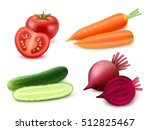 realistic vegetables set with... | Shutterstock .eps vector #512825467