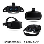 realistic black vr headsets... | Shutterstock .eps vector #512825644