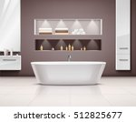 luxurious bathroom interior... | Shutterstock .eps vector #512825677